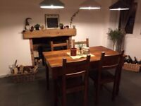 Reclaimed Wooden Dining Table with 4 chairs