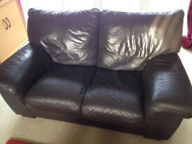 Leather sofa's 2 and 3 seater