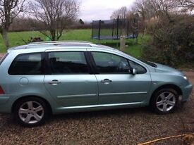 2002 Peugeot 307 HDi Diesel SW Estate Manual £440