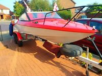 Fletcher arrow speedboat with H/J trailer all mod cons .all new