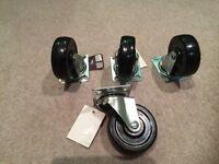 75 mm castor swivel wheels