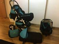 JAGUAR J1 PRAM & PUSHCHAIR + CAR SEAT