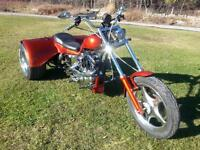 Custom built motorcycles, hot rods