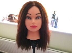 Hair manerquin with adjustable stand 98% real hair