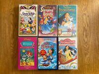 50 x VHS Tape Bundle - Mostly Disney / Children's Titles