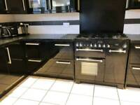 Rangemaster duel fuel 5 hob cooker and double oven