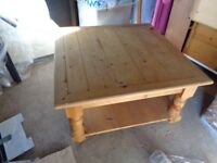Solid Natural Pine Coffee Table