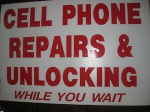 """Display Sign Board. 24"""" x 35"""". Excellent Condition. For any Cell Phone / Smart Phone Repair Shop / Booth / Business"""
