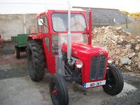 Massey Ferguson 35 with trailer