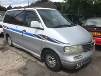 Nissan largo 2.0 diesel automatic e reg 1997! 7-seater!! RUNNER OR SPARES!! NO TAX OR TEST!! £395!!
