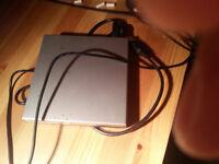 External USB cdrom drive.