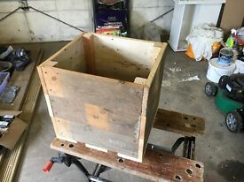 Wooden planters size 14x13 inches and 13 inches deep - has been treated