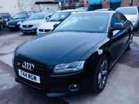 AUDI A5 AUTOMATIC SPORT 2.7 TDI DIESEL 2 DOORS COUPE BLACK QUATTRO LEATHER SEATS PRIVATE PLATE 2008