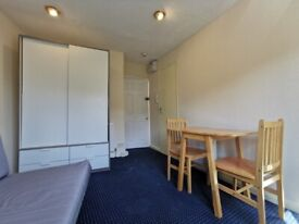 BRIGHT DOUBLE STUDIO FLAT WITH SEPARATE KITCHEN.