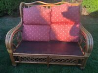 Conservatory cane furniture armchair and 2 seater