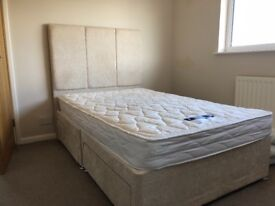 2 double beds with mattress and storage underneath