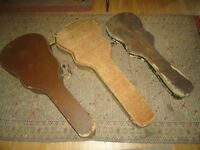 FOUR OLD GUITAR/ INSTRUMENT CASES