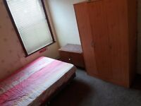 A lovely double size room available for single professional person.