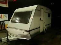 Abi monza 5 berth Touring caravan bunk bed