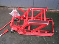 NEW ATV/ Motorcycle Stand with Hydraulic Lift 1500lb