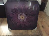 Purple flower canvas picture