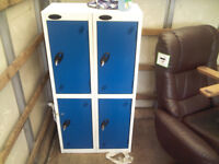 4 x PROBE Steel Lockers with 4 KEYS in GREAT CONDITION