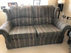 3 piece suite: 2 seater sofa with 2 arm chairs. In good condition.Collection only.