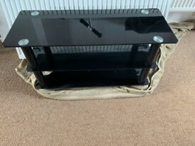 Smoked Tempered Glass TV Stand