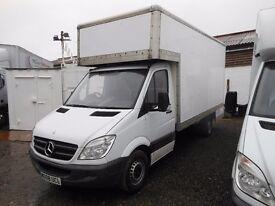 2008 mercedes dropwell luton lwb furniture van. new mot drives beautifully