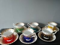 Excellent selection royal albert regal series 6 cups and saucers royal Albert