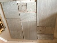 Grey Indian Stone paving slabs