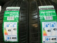 235 40 18 BRAND NEW MATCHING AUTOGREEN SUPERSPORT CHASER TYRES £130 INC FITTING AND BALANCE 7 DAYS
