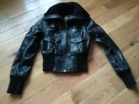Ladys Womens Leather River Island Jacket – Size 8
