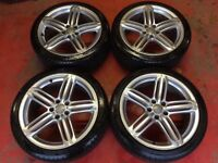 4x19 inch Genuine Audi TTS Rs6 Will fit A4 A5 Speedline Alloys wheels and Tyres