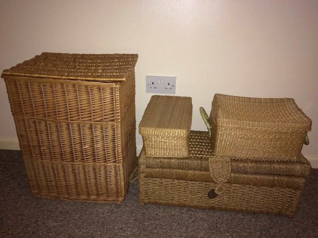 Storage baskets boxes containers