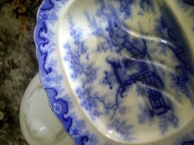 Antique Wedgewood meat serving platters