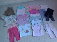 Baby girls clothes 3-6 mths