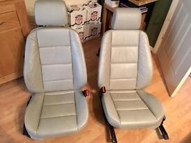 BMW E36 convertible leather seats front and rear