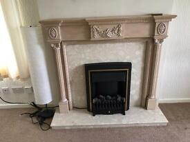 Adams Style Fireplace Surround Marble with Electric Coal Effect Fire