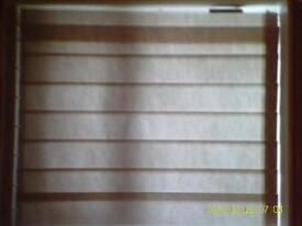 Vertical Blind with cream fabric slats, excellent condition