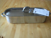 IKEA Stainless Steel Fish Kettle / Steamer / Poacher - 44 cm (54 cm incl handles) - NEW, never used