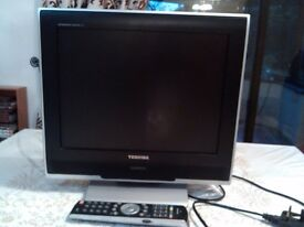 "Toshiba 19"" LCD Colour TV integrated digital TV"