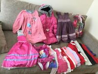 Girls clothes bundle age 4-5 years inc Coat, Xmas jumper, Next dresses,skinny jeans,Frozen etc