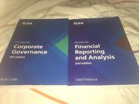 ICSA Study Text: Corporate Governance and Financial Reporting and Analysis