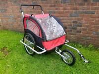 Double bike trailer/cart
