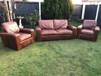 Next natural leather sofas suite excellent quality and condition can deliver