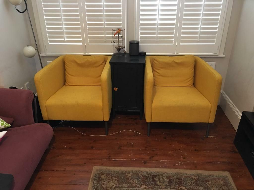 Eker 214 Ikea Armchairs For Sale And Side Table In