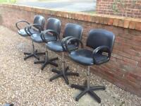 X 4 Hairdressing chairs / salon £50 the lot