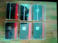 6 Sony premium mini 60min tapes