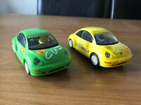 Scalextric Beetle cup race cars x2